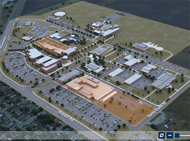 Small version of the updated West Campus map